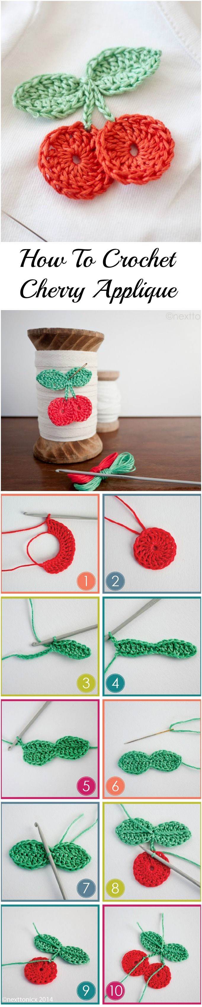 How To Crochet Cherry | Häkeln, Häckeln und Häkelideen