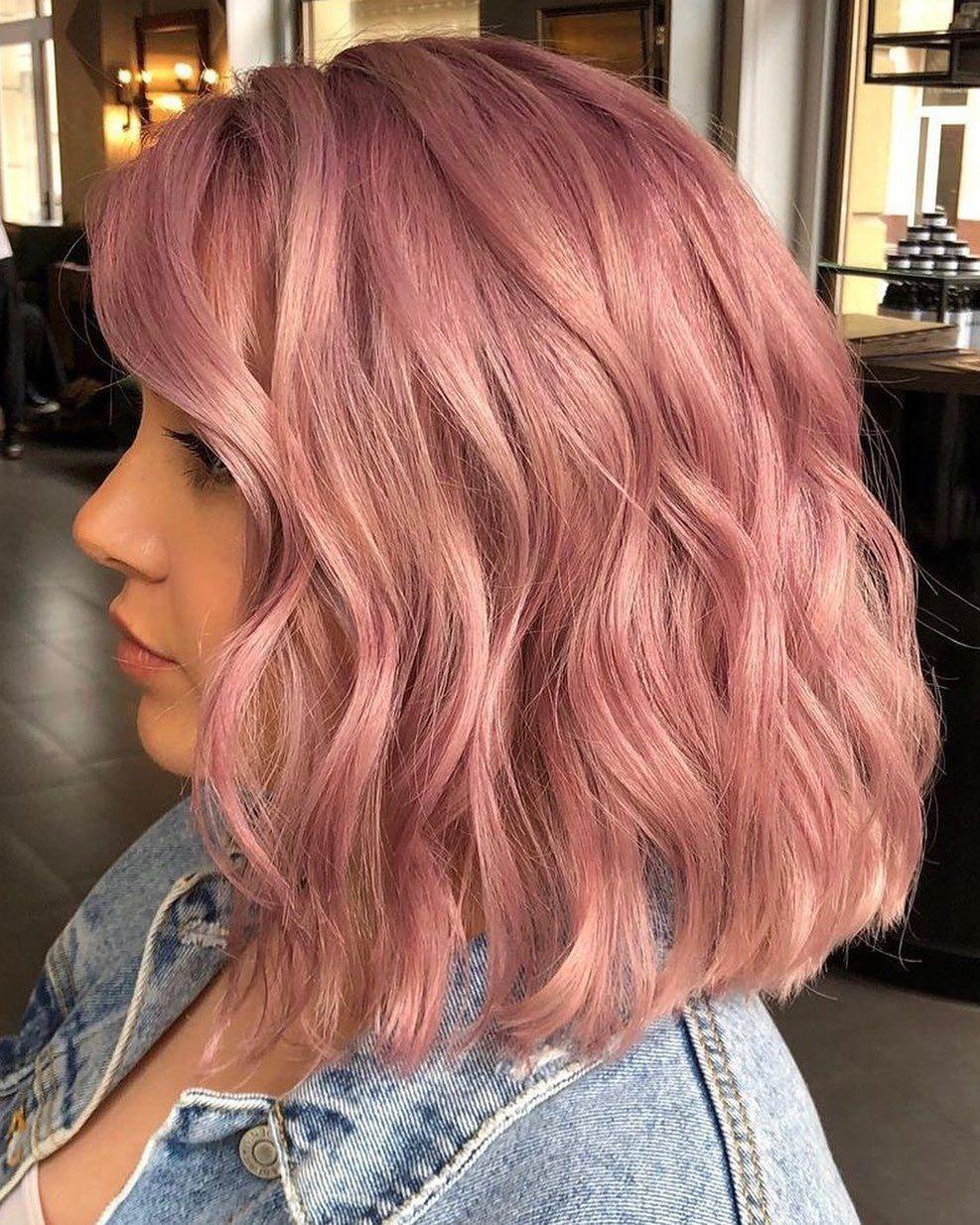 Shoulder Length Pastel Pink In 2020 Pastel Pink Hair Pastel Pink Hair Color Hair Color Pink