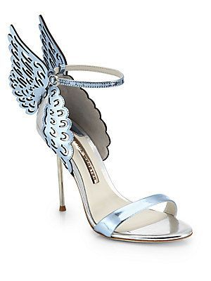 d8246a35813 Fantasy-worthy heels marked by icy metallic leather wings and straps ...