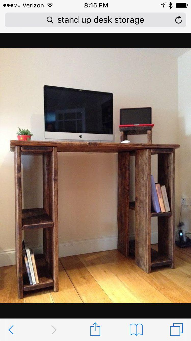Standup Desk And Storage Diy Standing Desk Ergonomic Office