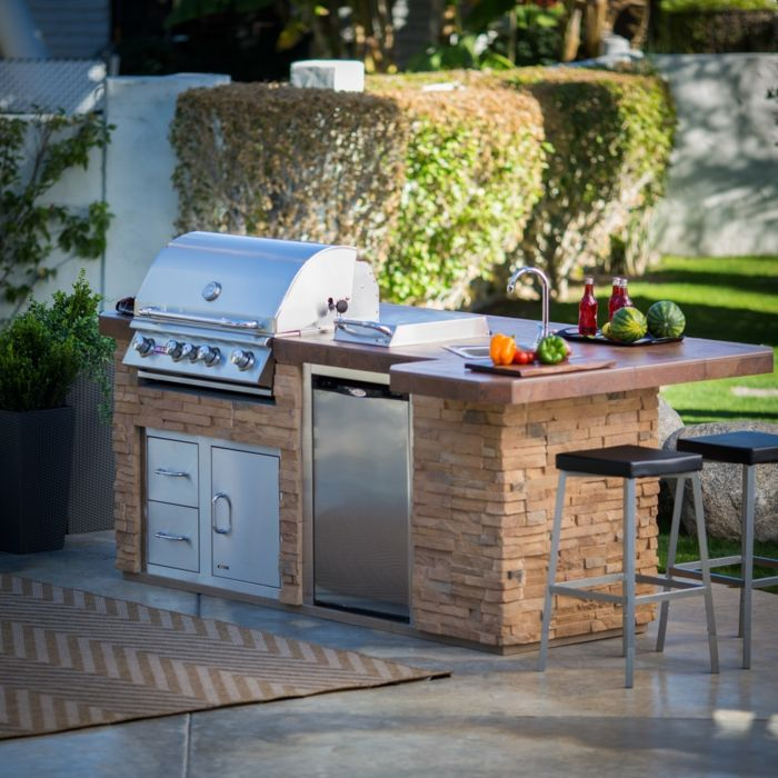 Wunderbar Außenküche Selber Bauen Natursteine Eingebaute Küchengeräte Grill