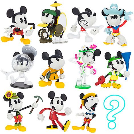 """New Disney Store Clear Vinylmation 3/"""" Figure Sealed Blind Box Series 1"""