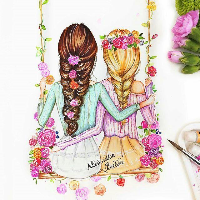 Best Friends By Illustrationbubble Follow Illustrationbubble