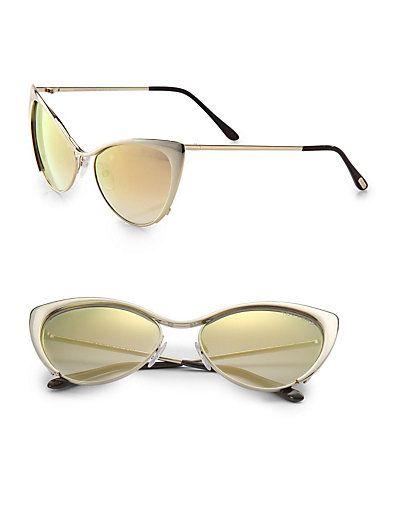 3e3f4803400 Tom Ford Eyewear - Nastasya Metal Cat s-Eye Sunglasses I need them in my  cat s-eye collection  )