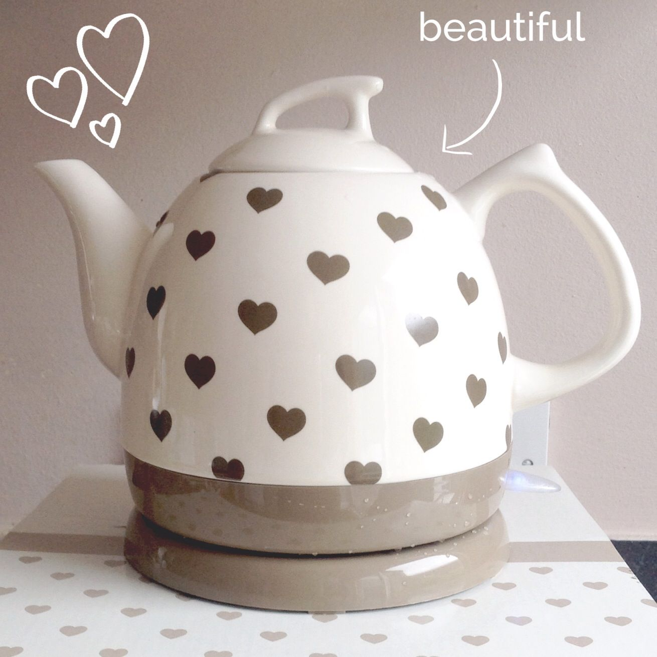 Cute Ceramic Heart Teapot Tea Pots Kitchen Appliances