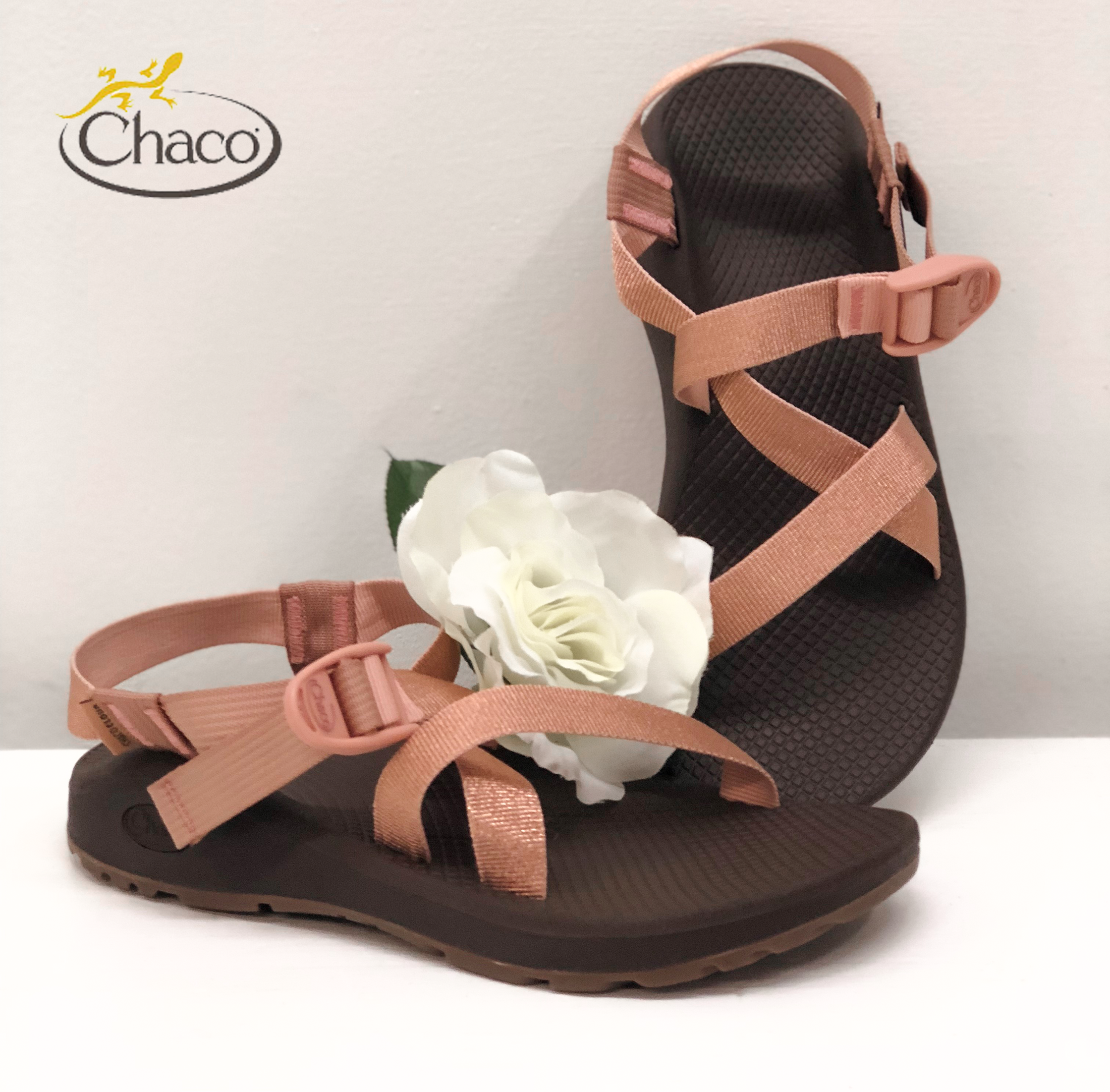 1c15cbdc568e Explore the outdoors while looking pretty in pink with the new metallic  rose Chaco Z Cloud Outdoor Sandals.
