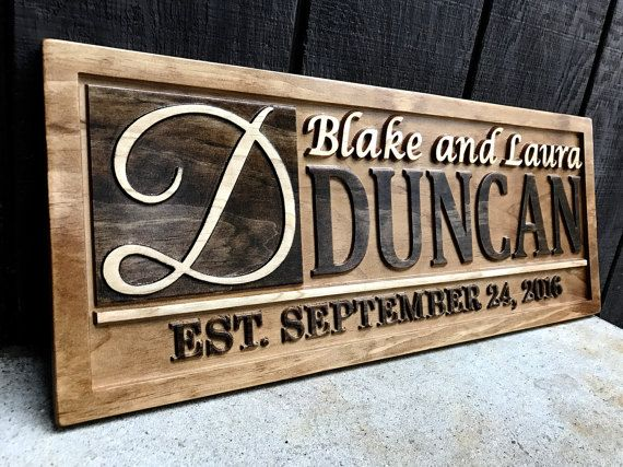 Personalized Wedding Gift Personalized Family Name Sign Etsy Personalized Wood Signs Wood Wedding Signs Wooden Wedding Signs