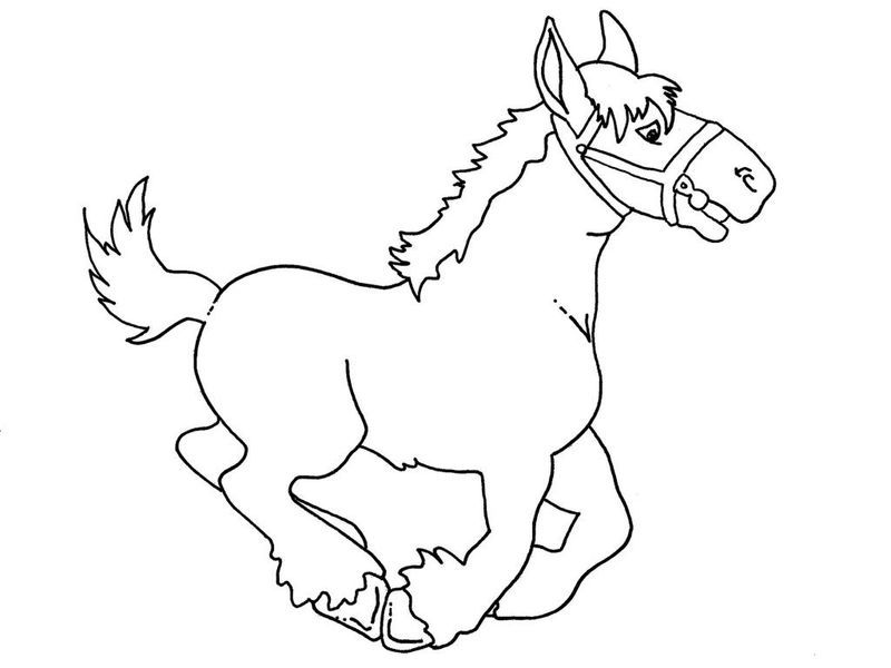 Pony Running Coloring Page