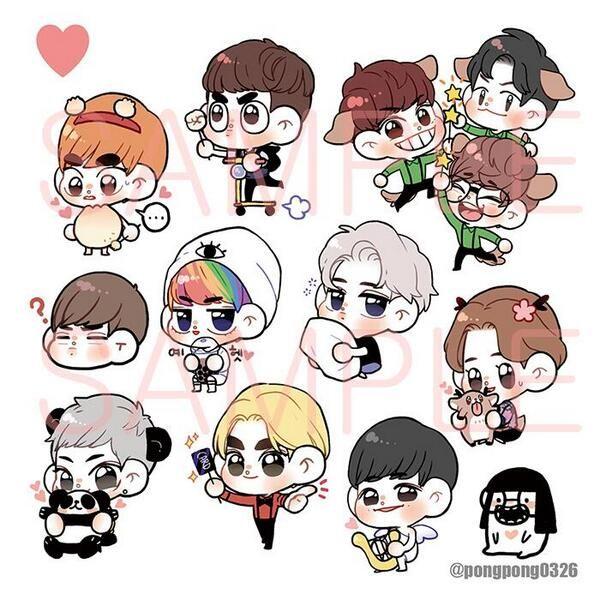 Cute EXO :'D | cr.pongpong0326