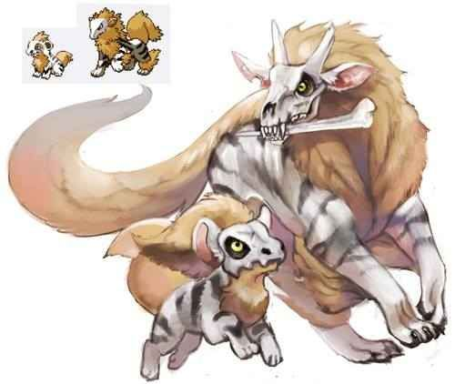 Growlbone and Marrownine | 43 Pokemon Mash-Ups That Are Better Than The Real Thing