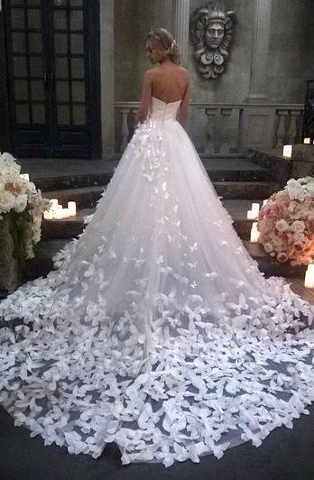vestido de mariposas para boda | vestidos de novia | pinterest