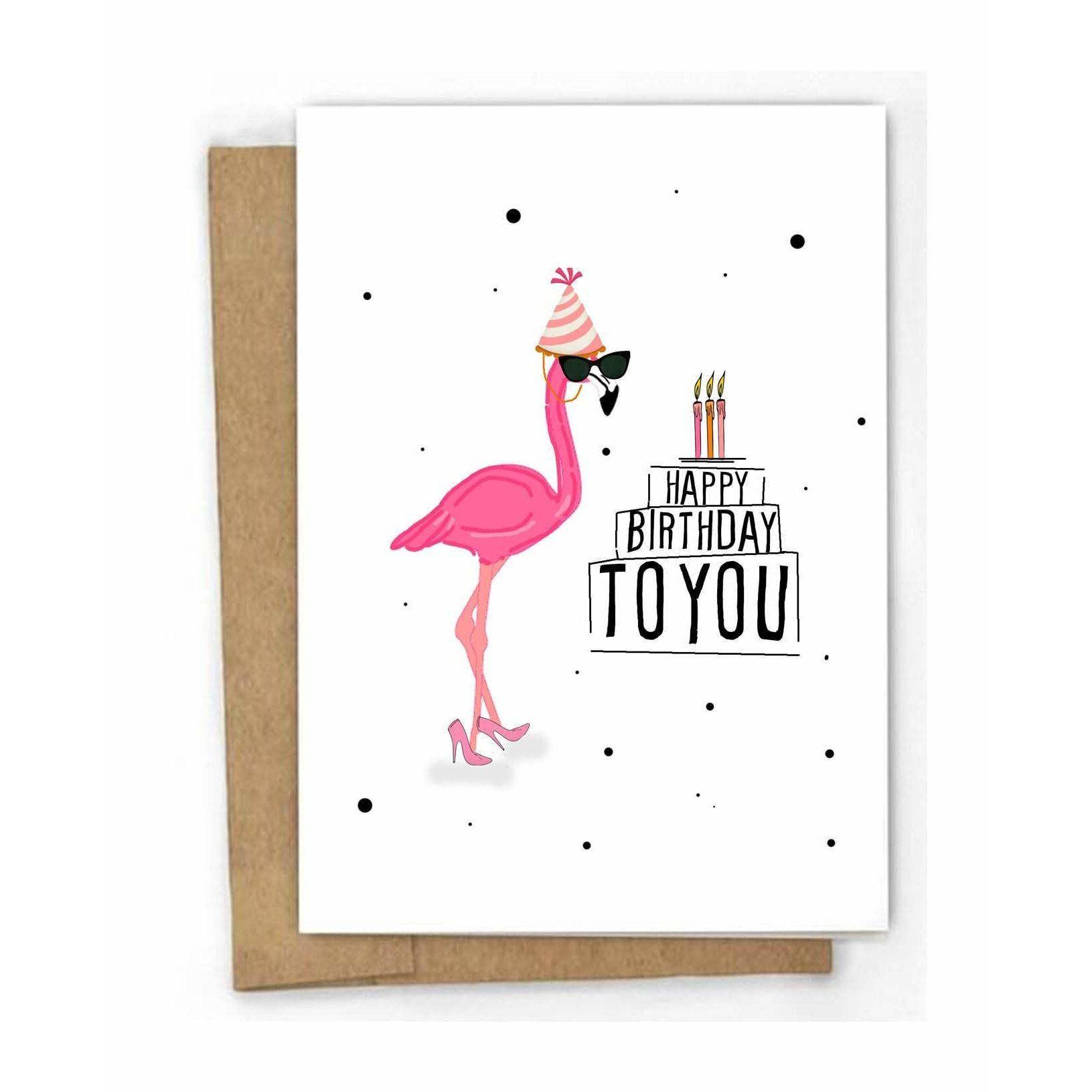 "Photo of Flamingo Fanatic Gift Set, ""Freebird"" Flamingo Earrings, Greeting Card & Flamingo Drink Floaty"