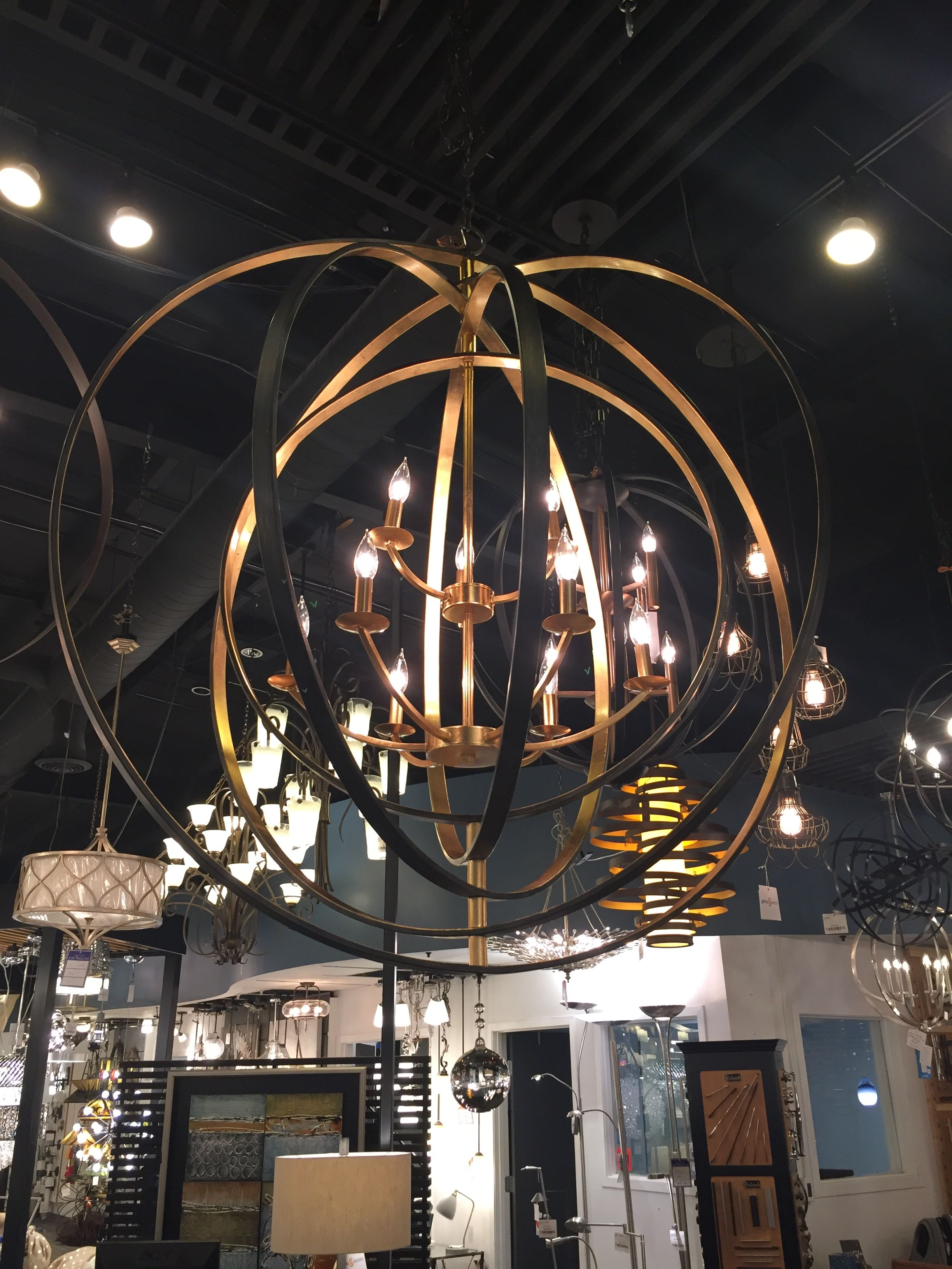 Large pendant in gold and black finish ann arbor