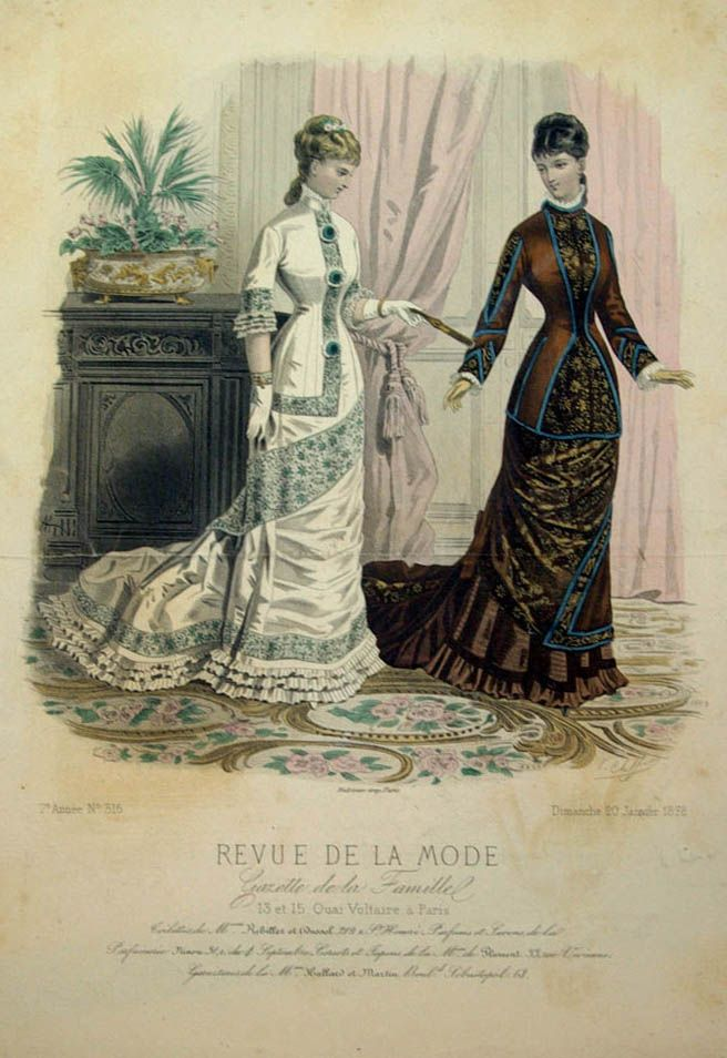 revue de la mode 1878 1878s fashion plates pinterest more fashion plates victorian and. Black Bedroom Furniture Sets. Home Design Ideas