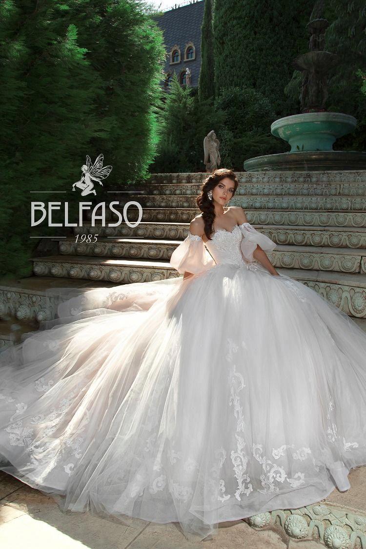 Strapless White Chiffon Cinderella Wedding Dress Bridal Ball Gown Collection Eliziya By Belfas Princess Wedding Dresses Wedding Dresses Ball Gowns Wedding [ 1124 x 750 Pixel ]