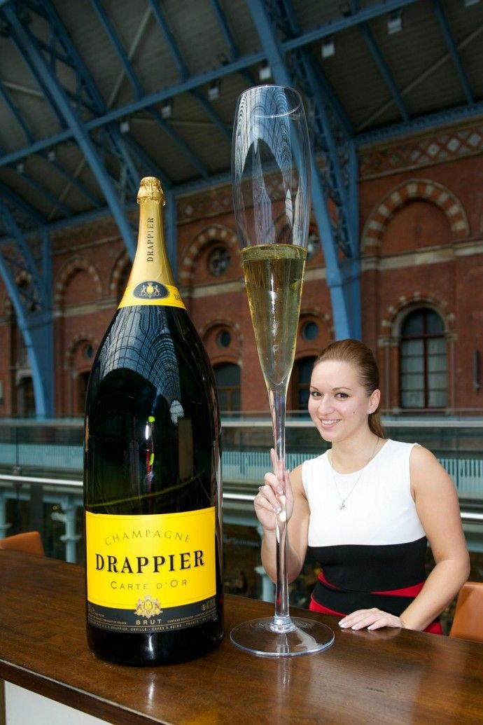 This Big Champagne Bottle Celebrates Searcy's National Champagne Week #luxury trendhunter.com