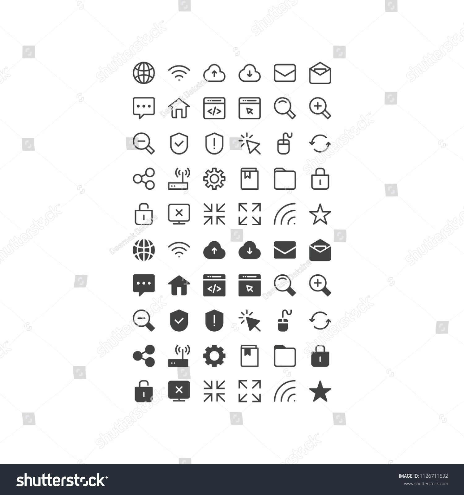 Computer Internet Icon Set Internet Technology Network Communication Web Computer Connection World Internet Icon Icon Set Design Computer Internet