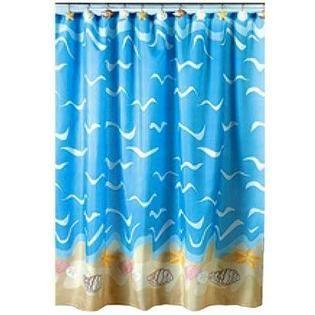 Otc Seashell Beach Nautical Theme Shower Curtain At Sears Com