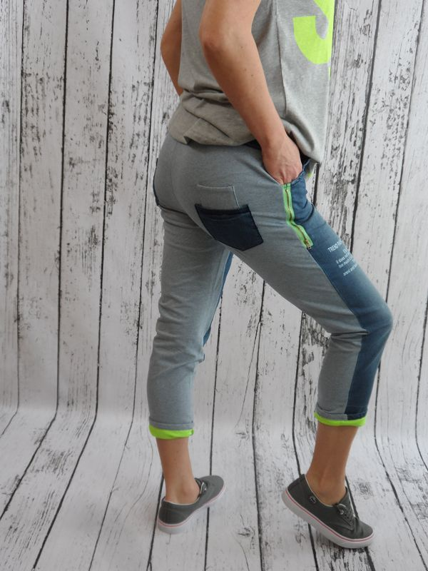 New Jeansy Legginsy Neonowe Zamki Oversize Hit 4179582100 Oficjalne Archiwum Allegro Capri Pants Pants Fashion