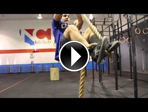rope climbing techniques with jason khalipa crossfit boot camp