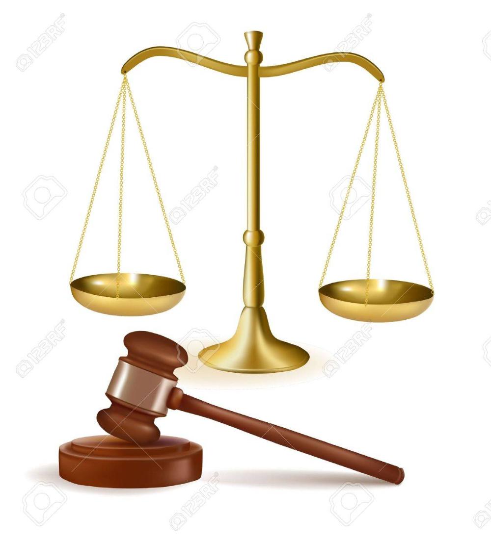 Martillo De Juez Con Escalas Ilustracion Vectorial Plantillas De Fondo De Powerpoint Dama De La Justicia Ilustracion Vectorial