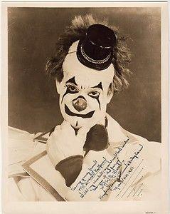 Vintage clown photograph.