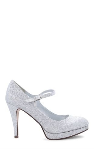 43bb2ff054d63 Deb Shops #Glitter Maryjane High Heel with Small Heel $20.93 ...