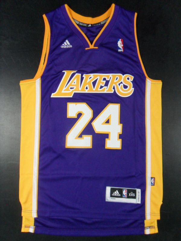 new style 92493 c36be Los Angeles Lakers 24 Kobe Bryant Kids Road Purple Jersey ...