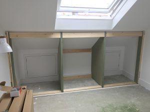 Low attic wardrobes   booker designs