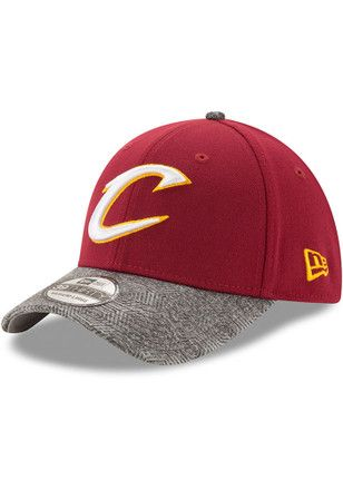 50f30112765 New Era Cleveland Cavaliers Mens Maroon Gripping Vize 39THIRTY Flex ...