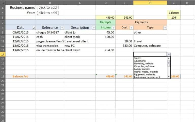 Bookkeeping Spreadsheet Template Bookkeeping Templates Business Budget Template Bookkeeping