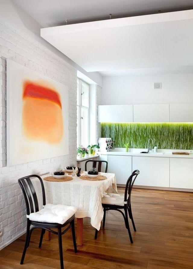 Farbgestaltung für weiße Küche – 32 Ideen für Wandfarbe