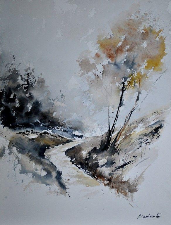 "Saatchi Online Artist: Pol Ledent; Watercolor, 2012, Painting ""watercolor 212152"""