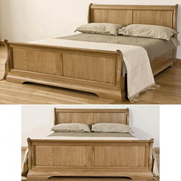 Toulon Solid Oak French Furniture 5\' King Size Sleigh Bed | Bedroom ...