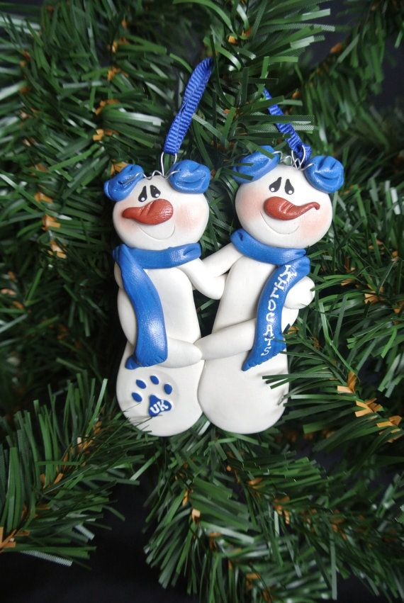 Personalized UK Wildcats Couple Ornament 1200 via Etsy
