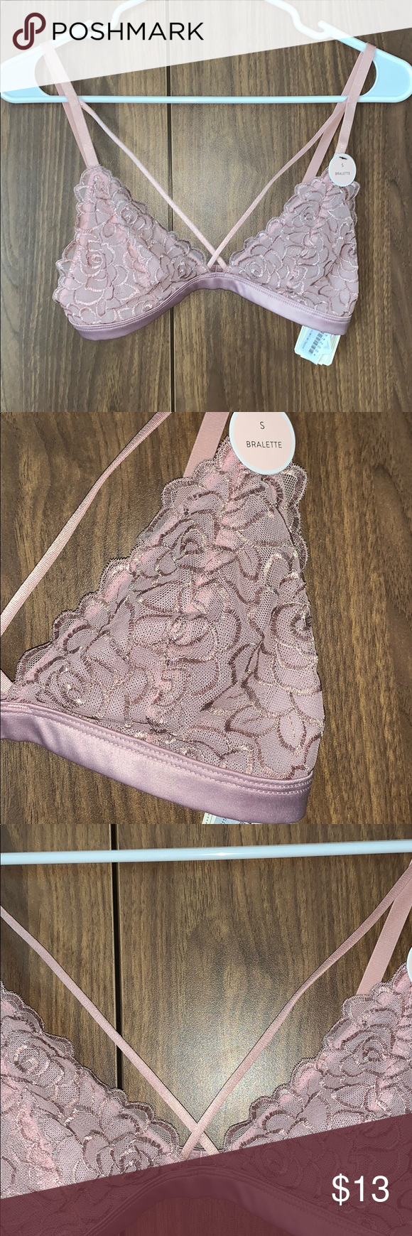 433f2b0a2d Forever 21 Dusty Rose Pink Lace Strappy Bralette Never worn. Really cute  shade of pink