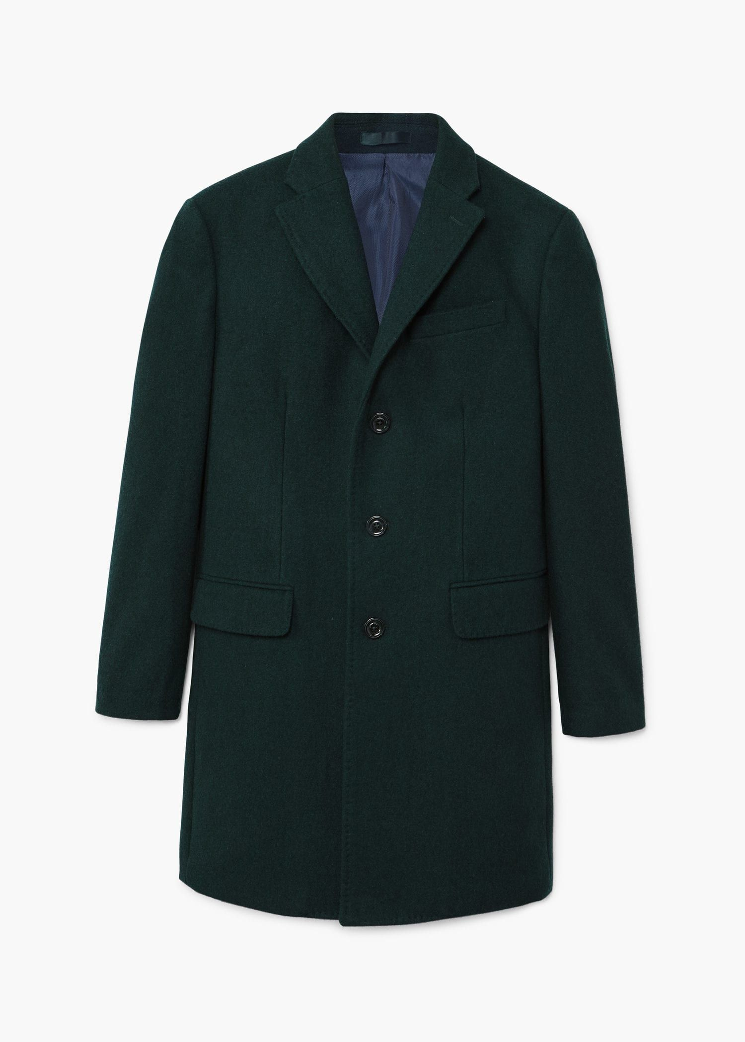 Abrigo lana estructurado - Hombre  746fb50dbe4