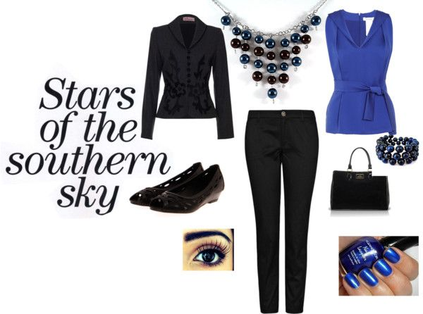 """Stars of the Southern Sky"" by elunajewelry on Polyvore"