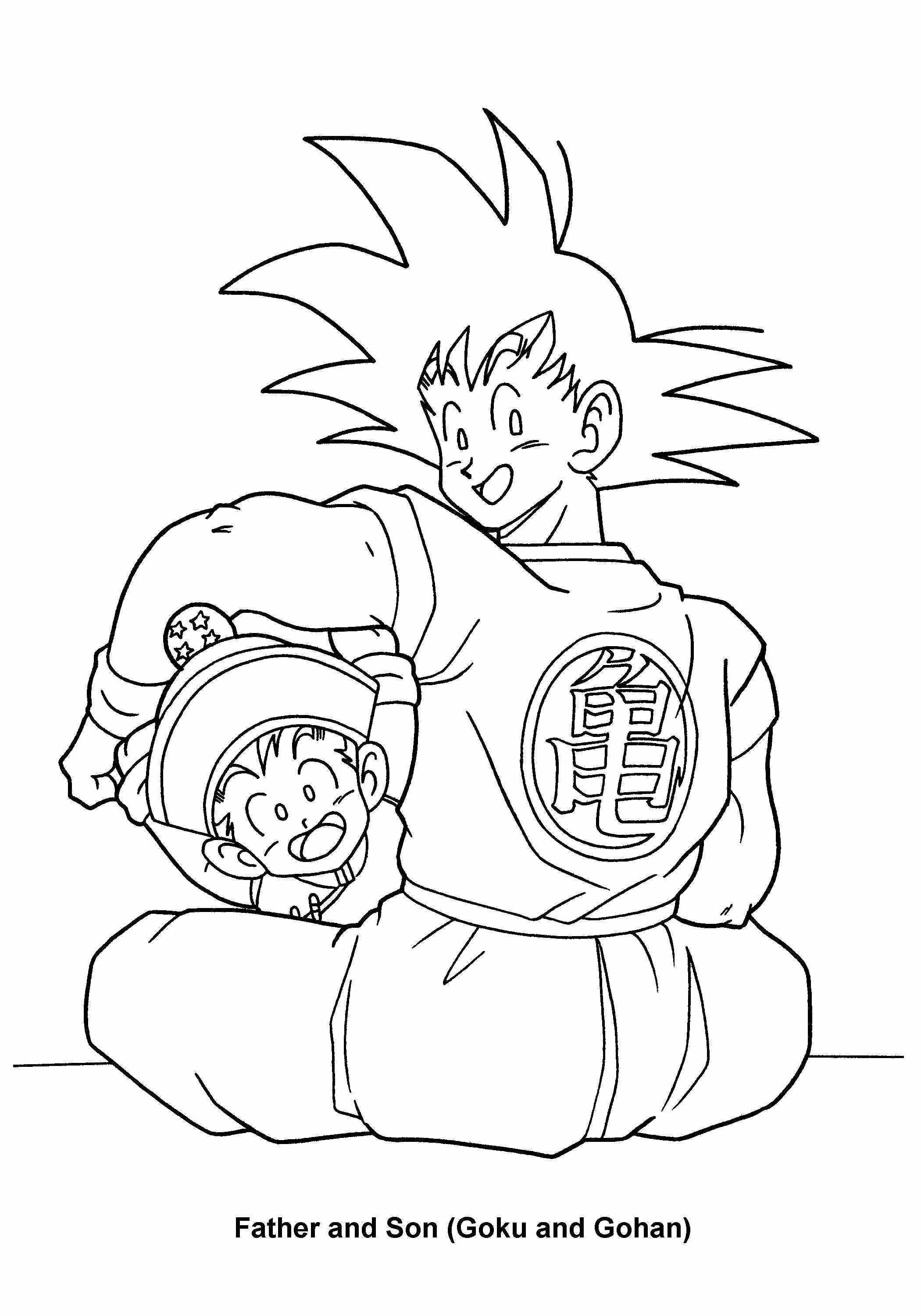 Dragon Ball Z Coloring Pages Printable | manga coloring pages ...