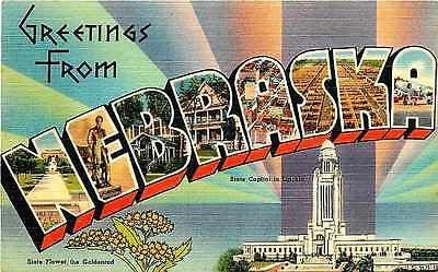 Letter Greetings Impressive Nebraska Ne 1940S Large Letter Greetings From Nebraska Vintage Linen .