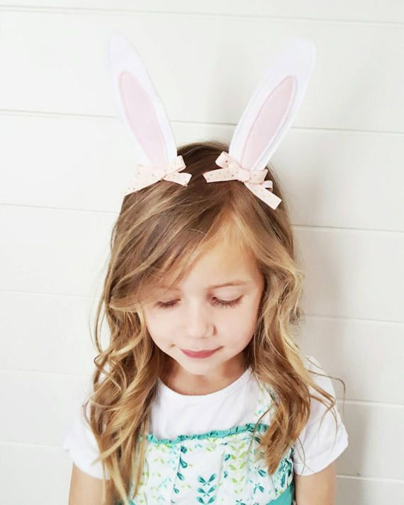 80cb9a2d1d0e6 Easter Bunny Ears Hair Clips for White Bunny Rabbit Girl Costumes or ...