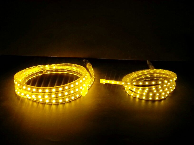 Yellow Led Strip Lights High Out Put On Left And Low Out Put On The Right Led Strip Lighting Strip Lighting Led Lights