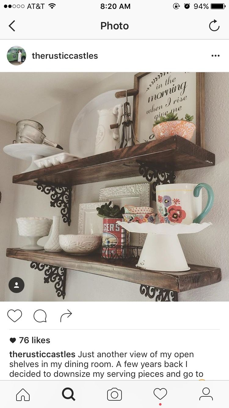 hobby lobby brackets stained boards and pioneer woman cups from rh pinterest com walmart decorative shelving walmart decorative shelving