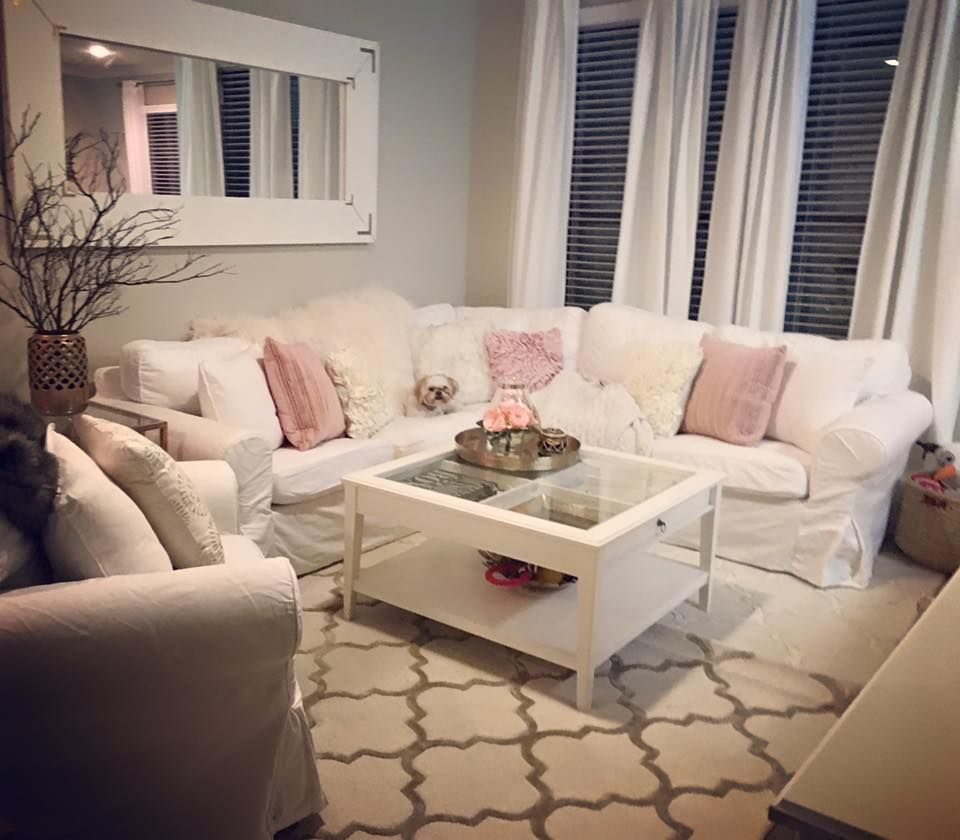 My White Cream And Pink Living Room 3 Tan Living Room Pink Living Room Boho Living Room