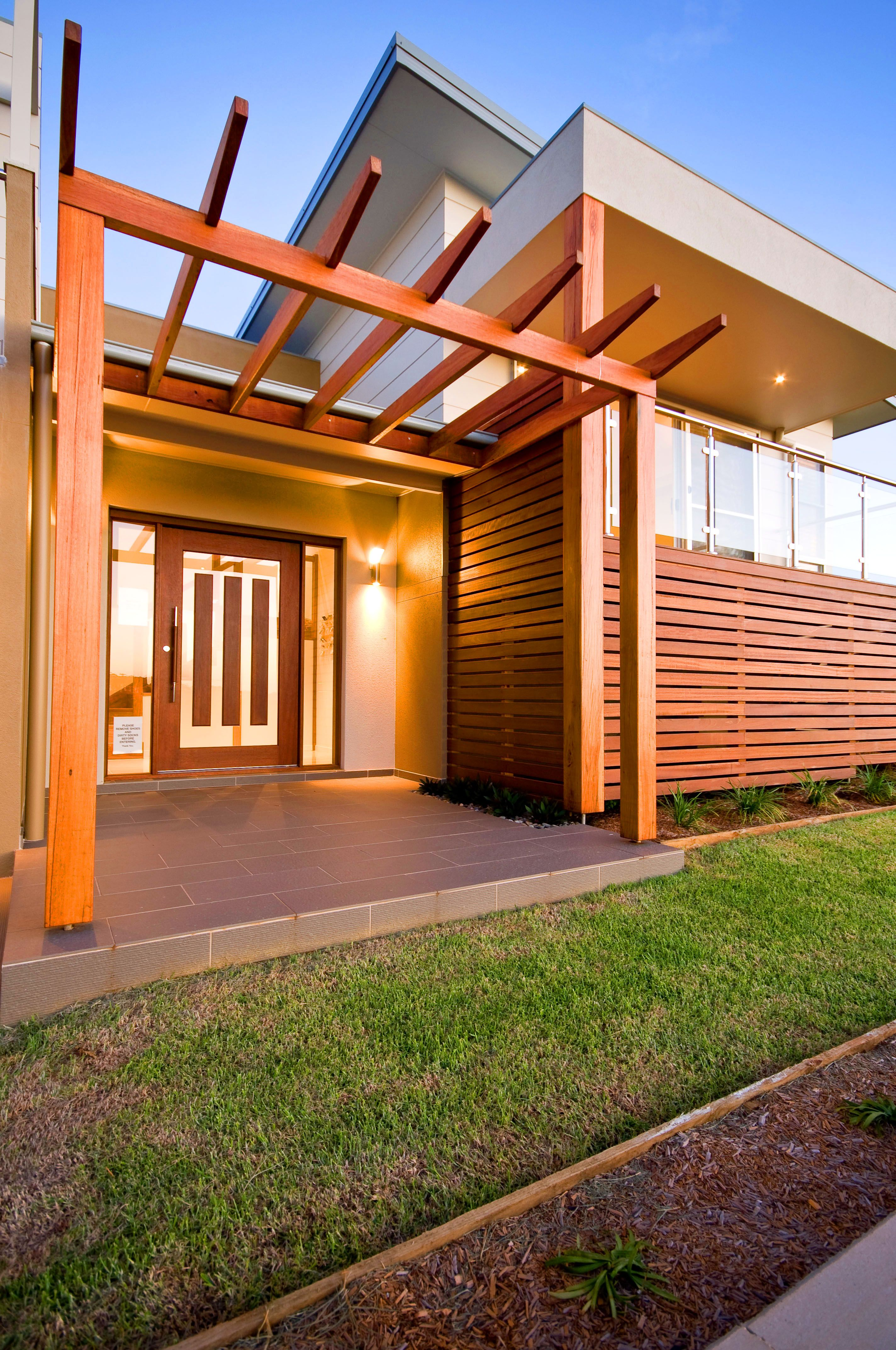 A remarkable timber entrance that truly stands out