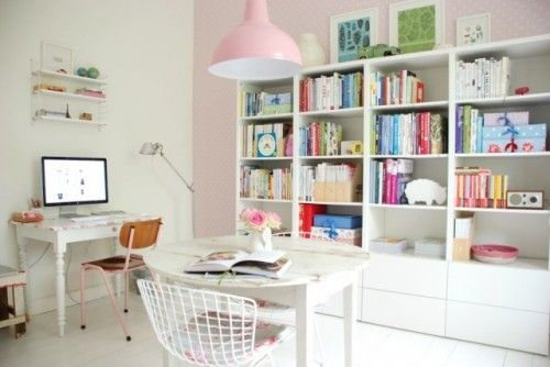 Pastel accents with loads of white. For a cheerful look that feels modern and fresh, go all out with the pastels — pink, soft blue, mint green, buttercup — but temper them with a healthy dose of white. White furniture, white walls (except for the odd accent wall) and even white floors help the pastels pop and enhance natural light.