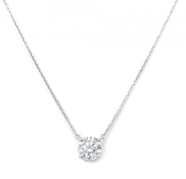 439 a platinum and diamond solitaire necklace tiffany on diamond 439 a platinum and diamond solitaire necklace tiffany on liveauctioneers aloadofball Gallery