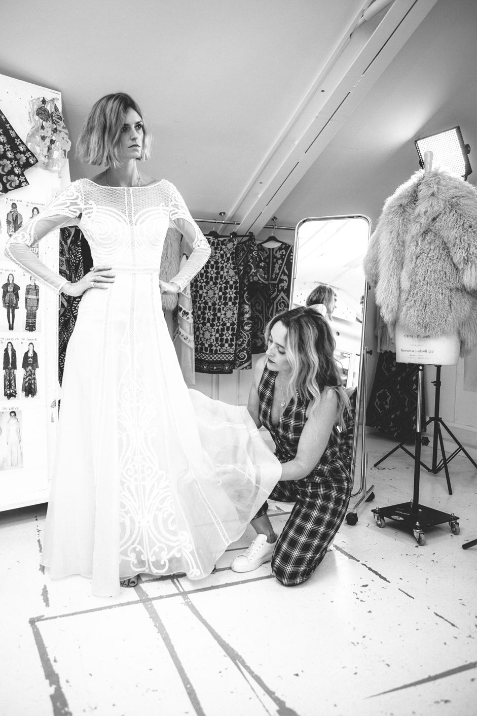Jacquetta Wheeler modelling Alice Temperley\'s beautiful bridal gown ...
