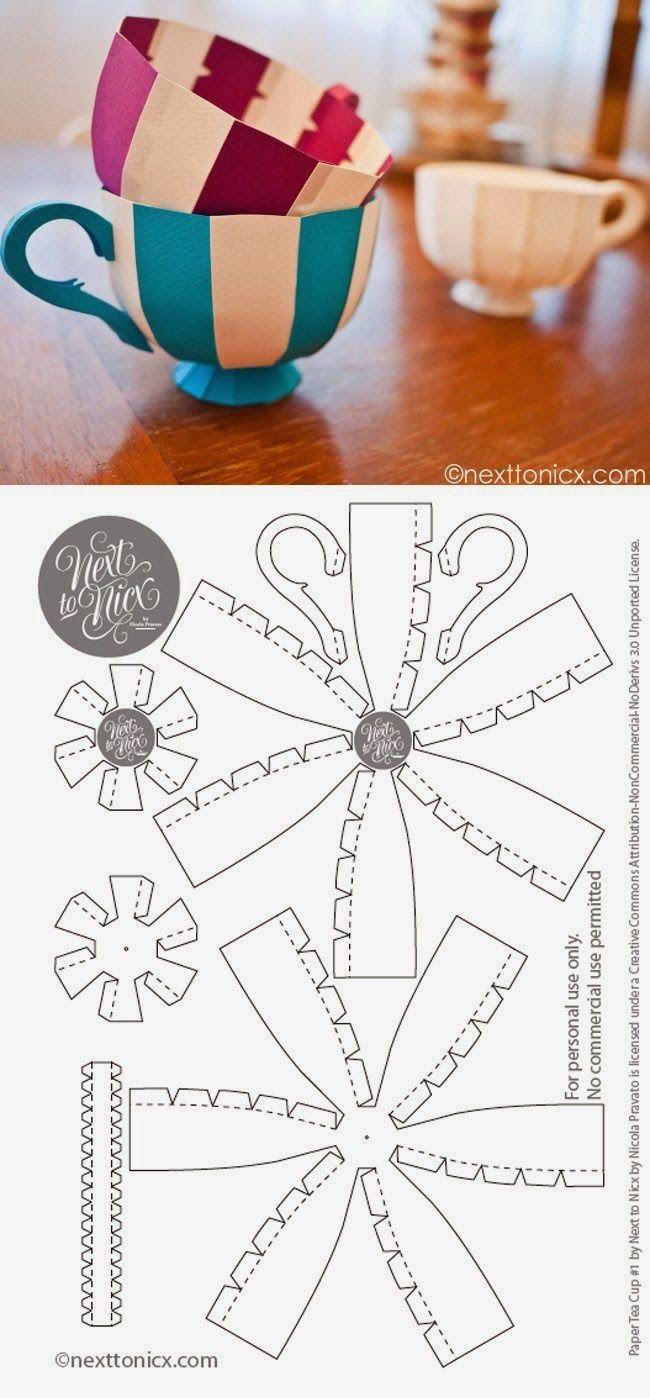005 Imprimolandia DIY tazas de papel How adorable! I'm