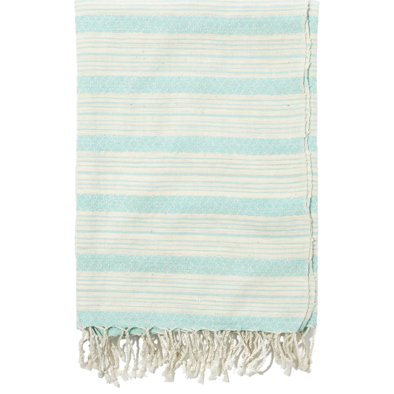 John Robshaw Textiles Turquoise Khadi Bath Towels